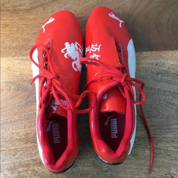 8fa29204652 Puma Shoes   Red Dragon Michael Schumacher Patent Leather   Poshmark